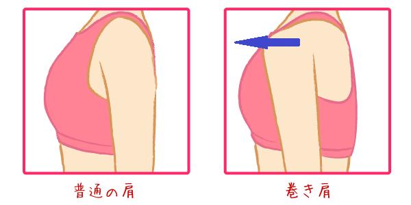 巻き肩画像