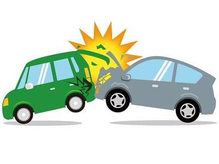追突事故の図