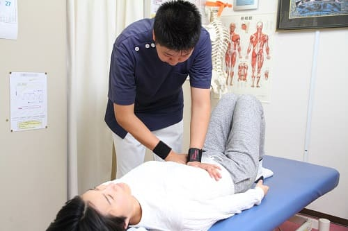 しばた整骨院では内臓調整も行います