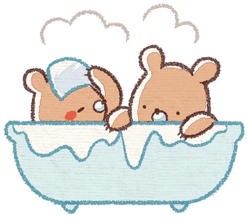 お風呂には10分は入りましょう